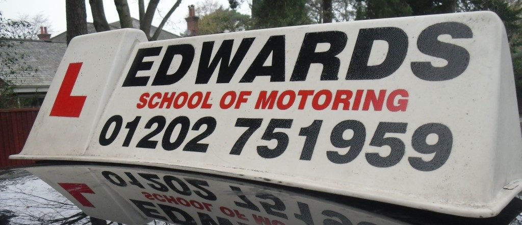 Edwards School of Motoring sign